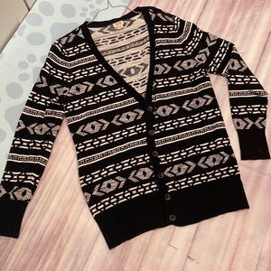 Mossimo Aztec black and white cardigan